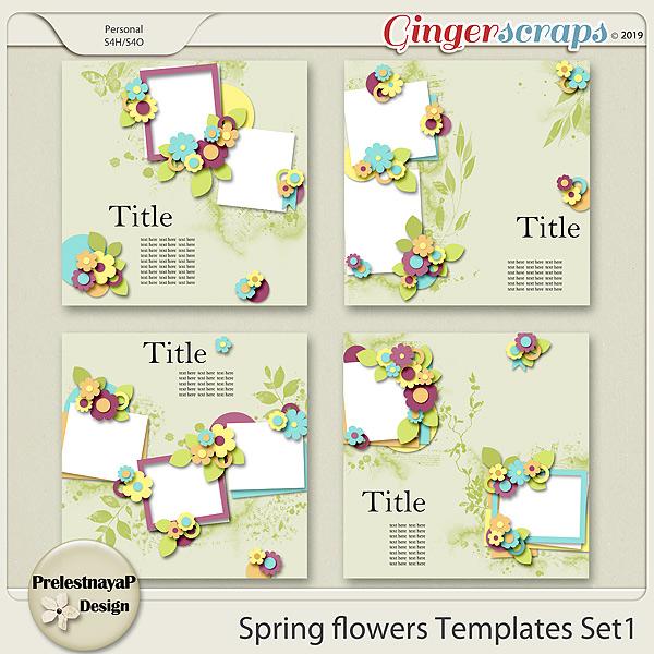 Spring flowers Templates Set1