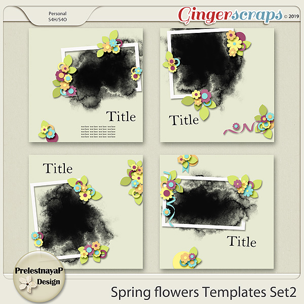 Spring flowers Templates Set2