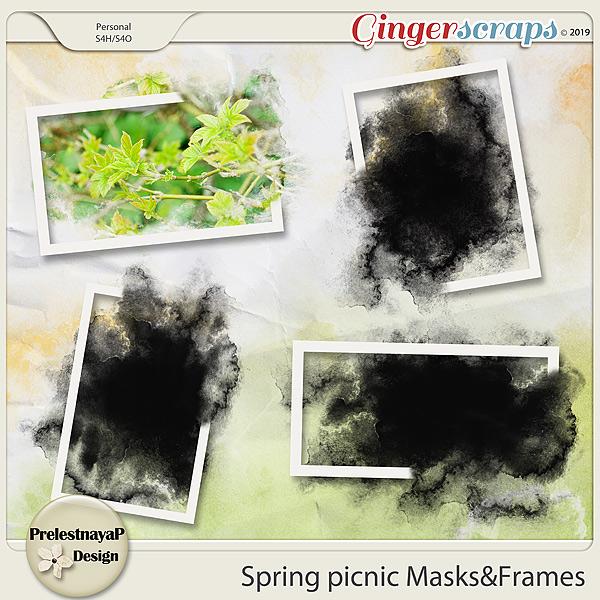 Spring picnic Masks&Frames