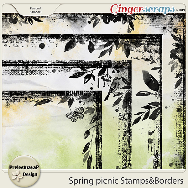 Spring picnic Stamps&Borders