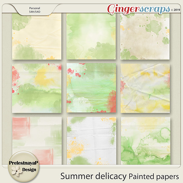 Summer delicacy Painted papers
