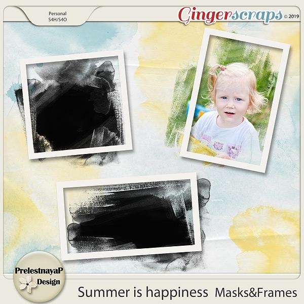 Summer is happiness Masks&Frames