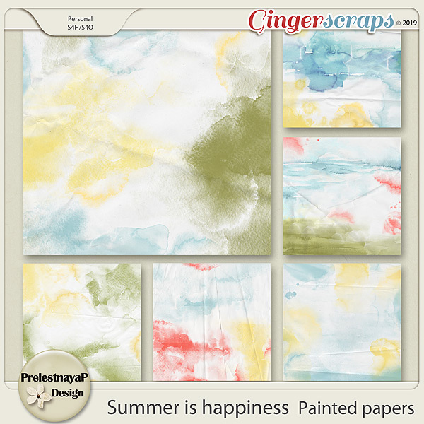 Summer is happiness Painted papers