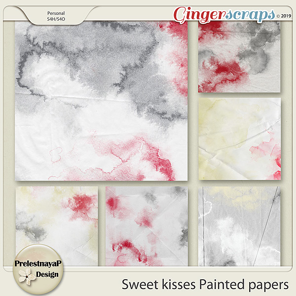 Sweet kisses Painted papers