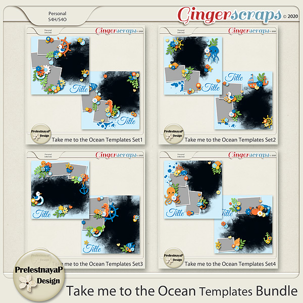 Take me to the Ocean Templates Bundle