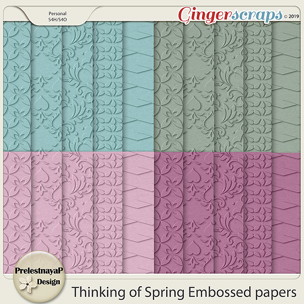 Thinking of Spring Embossed papers
