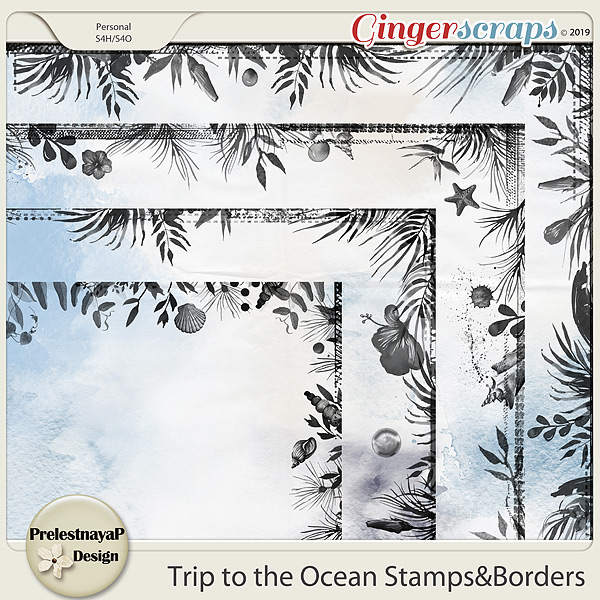 Trip to the Ocean Stamps&Borders