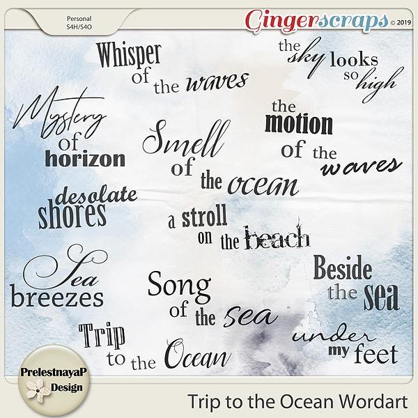 Trip to the Ocean Wordart