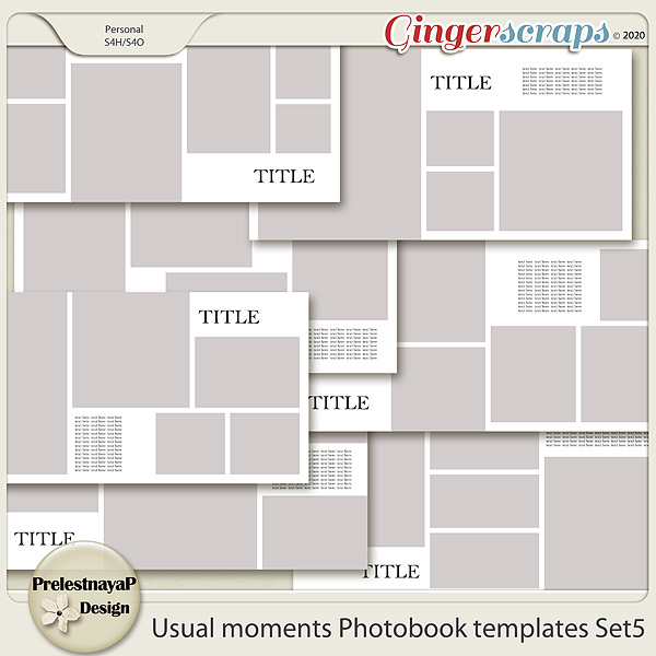 Usual moments Photobook templates Set 5