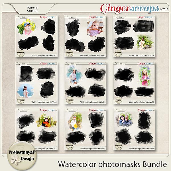 Watercolor photomasks Bundle
