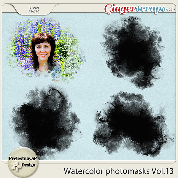 Watercolor photomasks Vol.13