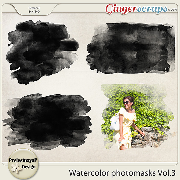 Watercolor photomasks Vol.3