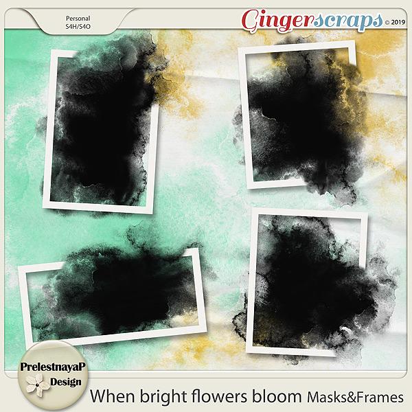 When bright flowers bloom Masks&Frames
