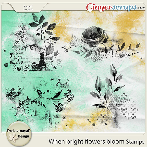 When bright flowers bloom Stamps