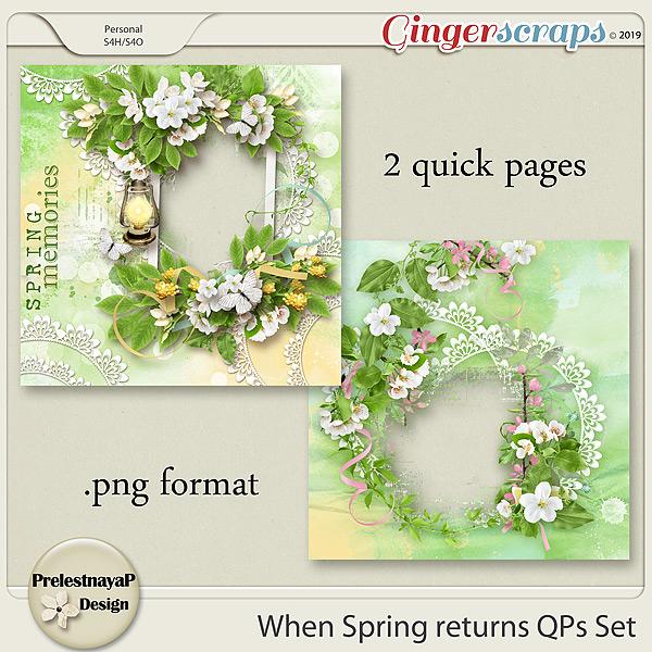 When Spring returns QPs Set