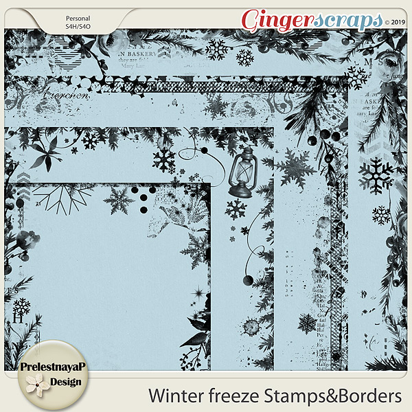 Winter freeze Stamps&Borders