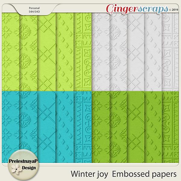 Winter joy Embossed papers
