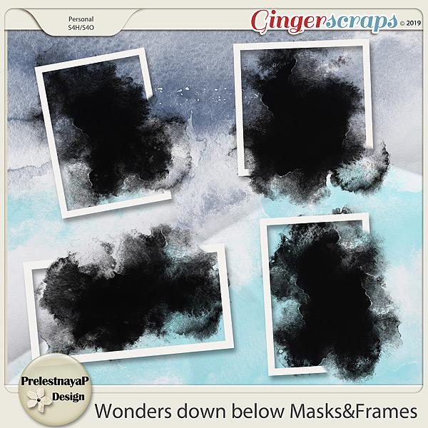 Wonders down below Masks&Frames