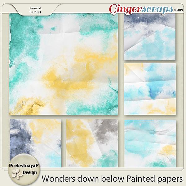 Wonders down below Painted papers