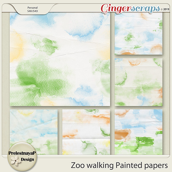 Zoo walking Painted papers
