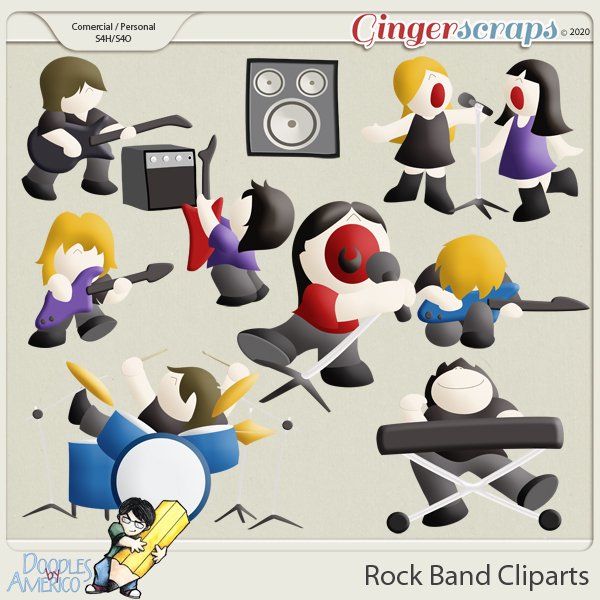 Doodles By Americo: Rock Band Cliparts