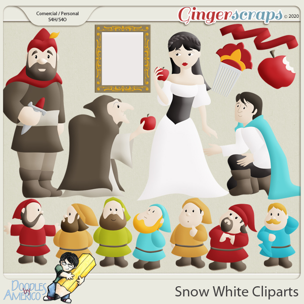 Doodles By Americo: Snow White Cliparts