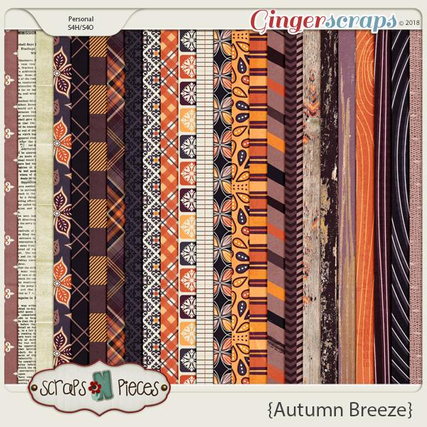 Autumn Breeze Papers by Scraps N Pieces