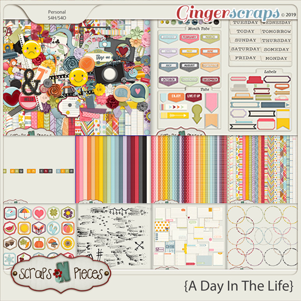 A Day In The Life Bundle by Scraps N Pieces