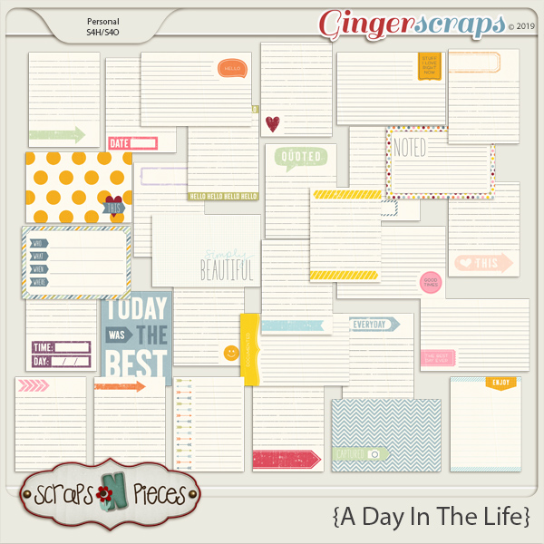 A Day In The Life Journal Cards by Scraps N Pieces