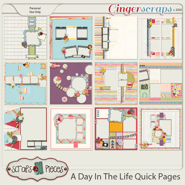 A Day In The Life Quick Pages by Scraps N Pieces
