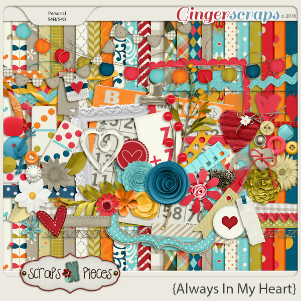 Always In My Heart kit by Scraps N Pieces