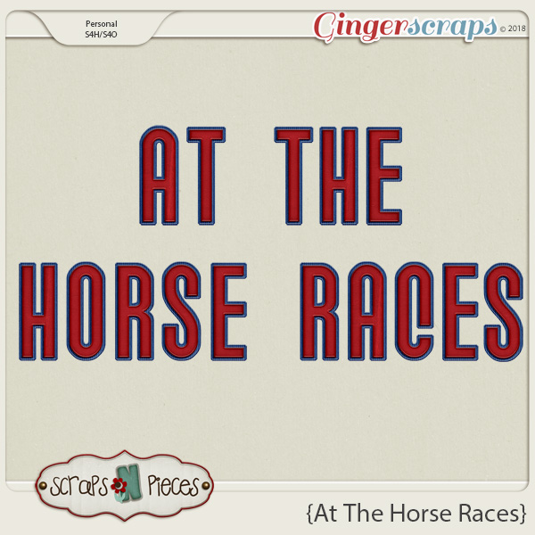 At The Horse Races Alpha by Scraps N Pieces