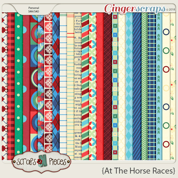 At The Horse Races Papers by Scraps N Pieces