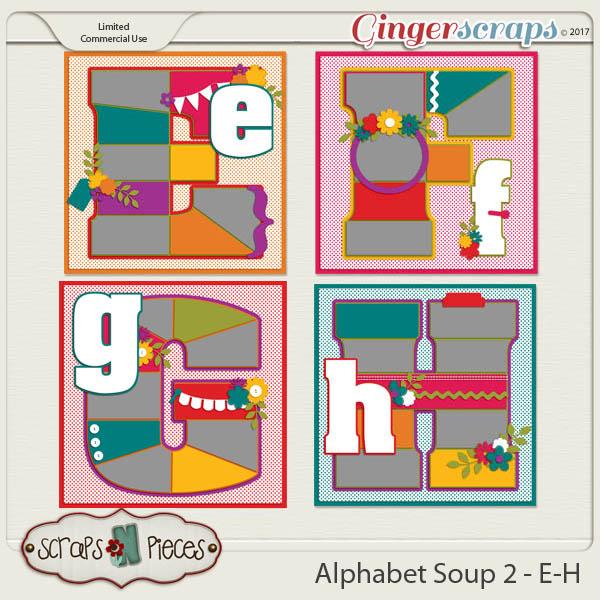 Alphabet Soup Template Pack 2 - E-H