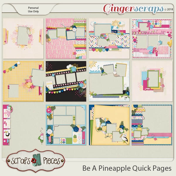 Be A Pineapple Quick Pages by Scraps N Pieces