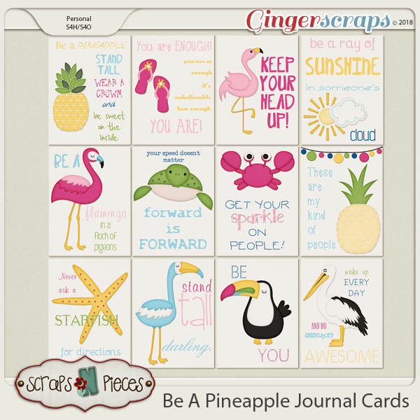 Be A Pineapple Journal Cards by Scraps N Pieces