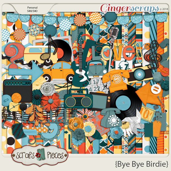 Bye Bye Birdie kit by Scraps N Pieces