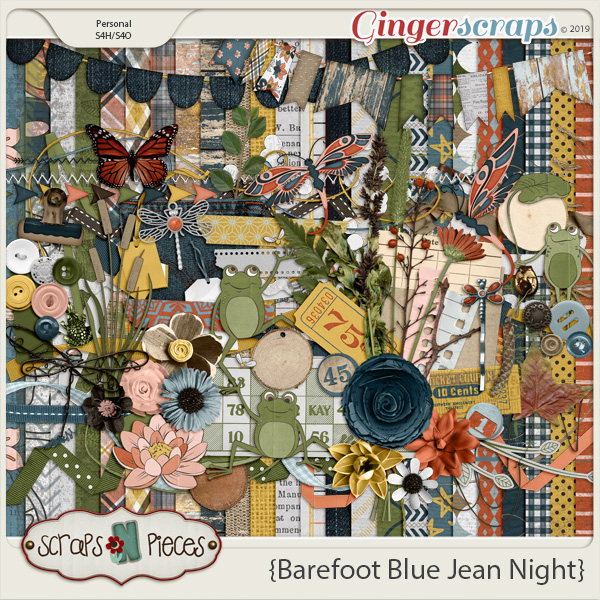 Barefoot Blue Jean Night Kit by Scraps N Pieces