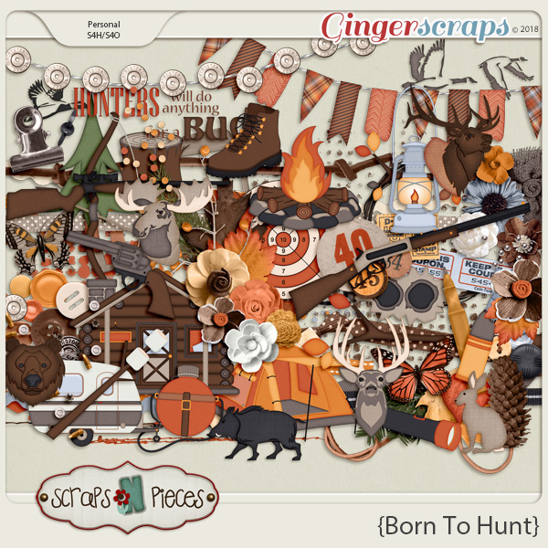 Born To Hunt Embellishments by Scraps N Pieces