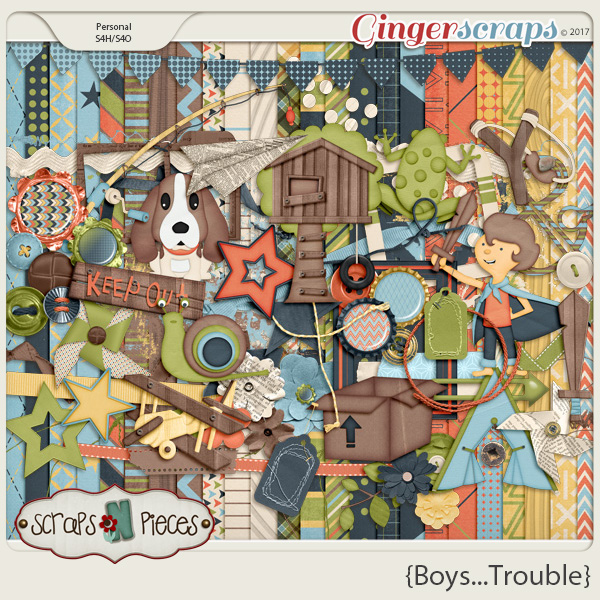 Boys...Trouble Kit by Scraps N Pieces