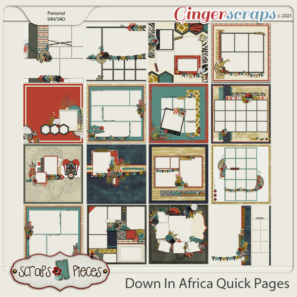 Down in Africa Quick Pages - Scraps N Pieces