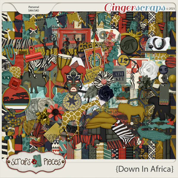 Down in Africa kit - Scraps N Pieces