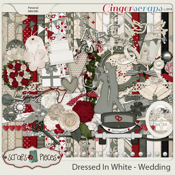 Dressed In White - Wedding kit by Scraps N Pieces