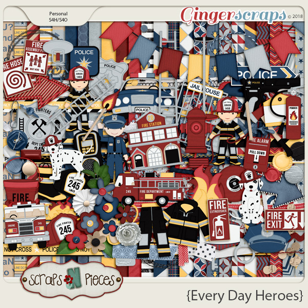 Everyday Heroes by Scraps N Pieces