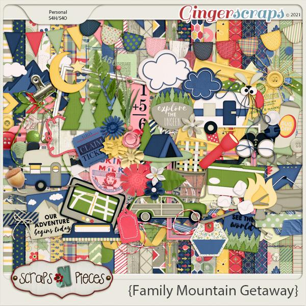 Family Mountain Getaway Bundled Kit by Scraps N Pieces