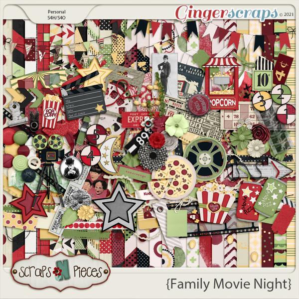 Family Movie Night Bundled Kit - Scraps N Pieces