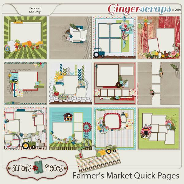 Farmer's Market Quick Pages by Scraps N Pieces