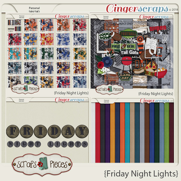 Friday Night Lights Bundle by Scraps N Pieces