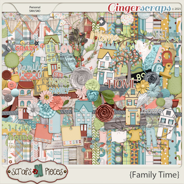 Family Time Bundled Kit by Scraps N Pieces