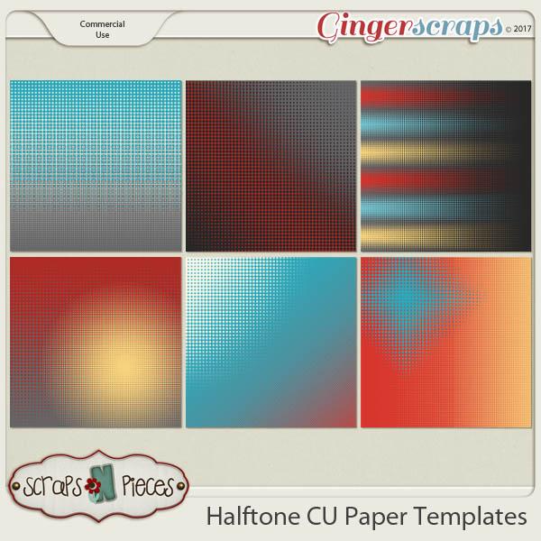 Halftone CU Paper Templates - Scraps N Pieces